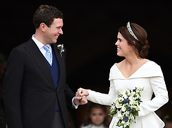 The Wedding of Princess Eugenie of York and Mr Jack Brooksbank at St George's Chapel, Windsor, Berkshire, UK, on the 12th October 2018. 10 Oct 2018 Pictured: The Wedding of Princess Eugenie of York and Mr Jack Brooksbank at St George's Chapel, Windsor, Berkshire, UK, on the 12th October 2018. Photo credit: James Whatling / MEGA TheMegaAgency.com +1 888 505 6342