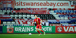 SWANSEA, WALES - Tuesday, March 26, 2013: Wales' James Collins in action against Croatia during the 2014 FIFA World Cup Brazil Qualifying Group A match at the Liberty Stadium. (Pic by David Rawcliffe/Propaganda)