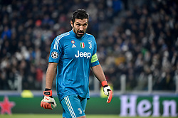 February 13, 2018 - Turin, Italy - Gianluigi Buffon of Juventus during the UEFA Champions League Round of 16 match between Juventus and Tottenham Hotspur at the Juventus Stadium, Turin, Italy on 13 February 2018. (Credit Image: © Giuseppe Maffia/NurPhoto via ZUMA Press)