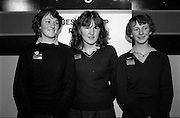 09/01/1981.01/09/1981.9th January 1981.The Aer Lingus Young Scientist of the Year Award at the RDS, Dublin ..Winners of the group project, Ann Cullen, Mary Kennedy and (unkown) from St Paul's, Greenhill, Dublin.