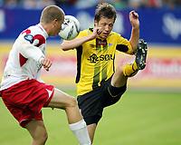 Fotball , 17. juni 2007 , Tippeligaen , Fredrikstad - Start 3-0<br /> <br /> Geir Ludvig Fevang, Start og Patrik Gerrbrand  , FFK
