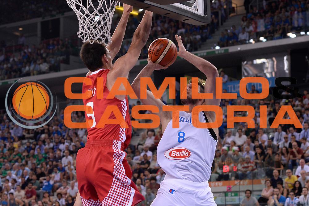 DESCRIZIONE: Torino FIBA Olympic Qualifying Tournament Italia - Croazia<br /> GIOCATORE: Danilo Gallinari<br /> CATEGORIA: Nazionale Italiana Italia Maschile Senior<br /> GARA: FIBA Olympic Qualifying Tournament Italia - Croazia<br /> DATA: 05/07/2016<br /> AUTORE: Agenzia Ciamillo-Castoria