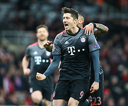 March 7, 2017 - London, England, England - Robert Lewandowski of FC Bayern Munich celebrates his goal during UEFA Champions League - Round 16 - 2nd Leg match between Arsenal and Bayern Munich at The Emirates , London 07 Mar 2017  (Credit Image: © Kieran Galvin/NurPhoto via ZUMA Press)