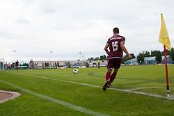 Poplatnik Matej of NK Triglav during football match between NK Triglav Kranj and Aluminij, 2nd Round of Prva Liga, on 22 July, 2012, in Sportni center, Kranj, Slovenia. (Photo by Grega Valancic / Sportida)