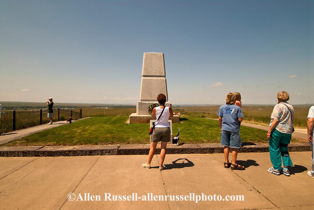 Little Bighorn Battlefield National Monument, Montana, 7th Cavalry Memorial, tourists