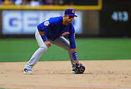 May 1 2011; Phoenix, AZ, USA; Chicago Cubs third basemen Aramis Ramirez (16) stands ready on the field while playing against the Arizona Diamondbacks at Chase Field. The Diamondbacks defeated the Cubs 4-3. Mandatory Credit: Jennifer Stewart-US PRESSWIRE..