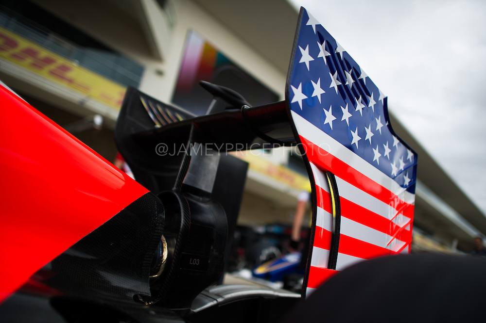 October 23-25, 2015: United States GP 2015: Alexander Rossi (USA) Manor Marussia F1 Team, endplate detail