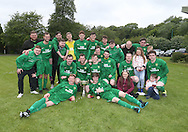 Hilltown Hotspur celebrate with the Sean Kelly Memorial Cup after beating DUMS (in the final  - Sean Kelly Memorial Cup Final at University Grounds, Riverside - Dundee Saturday Morning FA<br /> <br />  - &copy; David Young - www.davidyoungphoto.co.uk - email: davidyoungphoto@gmail.com