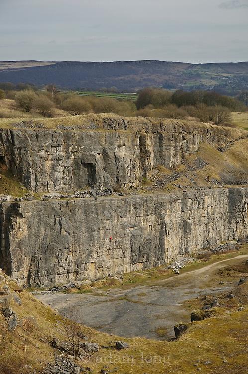 Horseshoe Quarry, near Stoney Middleton in the Peak District