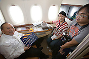 Airbus A380 first commercial flight - Singapore Airlines SQ 380 Singapore-Sydney on October 25, 2007. A First Class Suite.