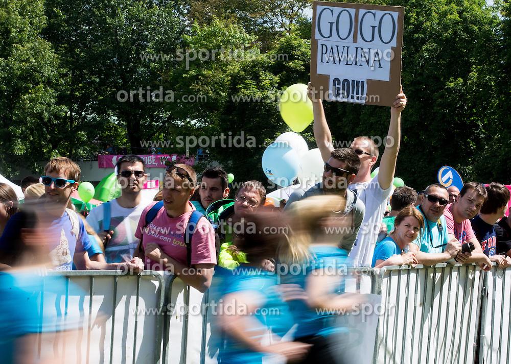 Fans during 5km and 10km running race 9. DM Tek za zenske on May 31, 2014 in Tivoli, Ljubljana, Slovenia. Photo by Vid Ponikvar / Sportida