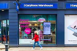 © Licensed to London News Pictures. 17/03/2020. Leeds UK. The Carphone Warehouse stand alone shop in Leeds City Centre this morning. Dixons Carphone is to close all 531 of its stand alone Carphone Warehouse stores & will axe 2,900 jobs. Photo credit: Andrew McCaren/LNP