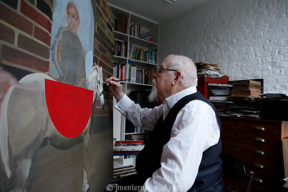 Sir Peter Blake in his West London Studio..Monday, Nov.28, 2011