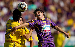 Luka Elsner of Domzale vs Etien Velikonja of Maribor  during football match between NK Maribor and NK Domzale of 36th - Last Round of 1st Slovenian football league PrvaLiga, on May 29, 2011 in Stadium Ljudski vrt, Maribor, Slovenia. (Photo By Vid Ponikvar / Sportida.com)