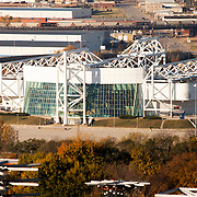 View of Kemper Arena, in Kansas City, Missouri. Taken from top of Power and Light Building in downtown KC.