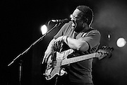 George Porter, Jr. performs at Tipitina's on April 12, 2003 in New Orleans, LA.