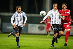 Klemen Pucko of Mura and Karamarko Marin of Mura and Ante Živković of Aluminij during football match between NŠ Mura and NK Aluminij in 17th Round of Prva liga Telekom Slovenije 2019/20, on November 10, 2019 in Fazanerija, Murska Sobota, Slovenia. Photo by Blaž Weindorfer / Sportida