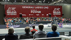 13.10.2016, TipsArena, Linz, AUT, WTA Tour, AUT, WTA Tour, Generali Ladies Linz, Achtelfinale, im Bild 13.10.2016, TipsArena, Linz, AUT, WTA Tour, Generali Ladies Linz, Achtelfinale, im Bild // Overview Centre Court during round of 16 singles match of WTA Generali Ladies Linz, Tennis Tournament at the TipsArena in Linz, Austria on 2016/10/13. EXPA Pictures © 2016, PhotoCredit: #AGENTUR#/ Reinhard Eisenbauer // Overview Centre Court during round of 16 singles match of WTA Generali Ladies Linz, Tennis Tournament at the TipsArena in Linz, Austria on 2016/10/13. EXPA Pictures © 2016, PhotoCredit: EXPA/ Reinhard Eisenbauer<br /> <br /> *****ATTENTION - #RESTRICTION#*****