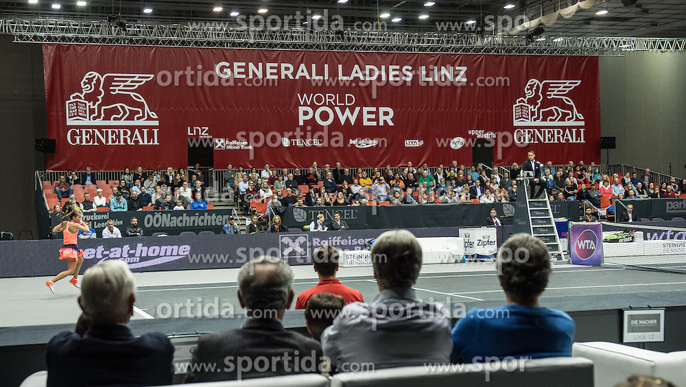 13.10.2016, TipsArena, Linz, AUT, WTA Tour, AUT, WTA Tour, Generali Ladies Linz, Achtelfinale, im Bild 13.10.2016, TipsArena, Linz, AUT, WTA Tour, Generali Ladies Linz, Achtelfinale, im Bild // Overview Centre Court during round of 16 singles match of WTA Generali Ladies Linz, Tennis Tournament at the TipsArena in Linz, Austria on 2016/10/13. EXPA Pictures &copy; 2016, PhotoCredit: #AGENTUR#/ Reinhard Eisenbauer // Overview Centre Court during round of 16 singles match of WTA Generali Ladies Linz, Tennis Tournament at the TipsArena in Linz, Austria on 2016/10/13. EXPA Pictures &copy; 2016, PhotoCredit: EXPA/ Reinhard Eisenbauer<br /> <br /> *****ATTENTION - #RESTRICTION#*****