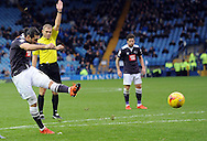 Bradley Johnson of Derby County shoots during the Sky Bet Championship match at Hillsborough, Sheffield<br /> Picture by Graham Crowther/Focus Images Ltd +44 7763 140036<br /> 06/12/2015