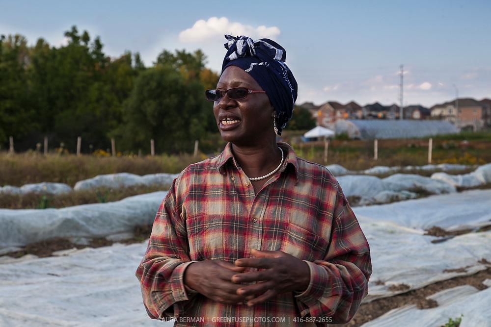 Margaret Zondo of Southern Horizons market garden at FarmStart's McVean Incubator farm.