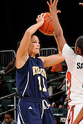 December 18, 2010: Nicole Anderson of the  California Riverside Highlanders in action during the NCAA basketball game between the Miami Hurricanes and the Highlanders. The 'Canes defeated the Highlanders 81-59.