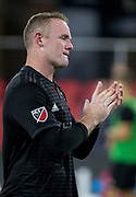 WASHINGTON, DC - AUGUST 29: D.C. United forward Wayne Rooney (9) after a MLS match between D.C United and the Philadelphia Union on August 29, 2018, at Audi Field, in Washington, DC. <br /> The Philadelphia Union defeated DC United 2-0.<br /> (Photo by Tony Quinn/Icon Sportswire)
