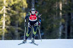 BRAISAZ Justine (FRA) competes during Women 12,5 km Mass Start at day 4 of IBU Biathlon World Cup 2014/2015 Pokljuka, on December 21, 2014 in Rudno polje, Pokljuka, Slovenia. Photo by Vid Ponikvar / Sportida