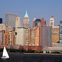 USA, New York, New York City. Scenic sightseeing cruise around Manhattan Island.