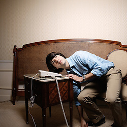 "Demetri Martin, starring in Ang Lee's ""Taking Woodstock"". Carlton Hotel, Cannes Film Festival. France. 16 May 2009. Photo: Antoine Doyen"