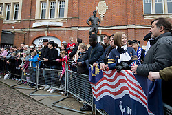 Fans wait outside Craven Cottage for the teams to arrive - Mandatory by-line: Jason Brown/JMP - 19/02/2017 - FOOTBALL - Craven Cottage - Fulham, England - Fulham v Tottenham Hotspur - Emirates FA Cup fifth round