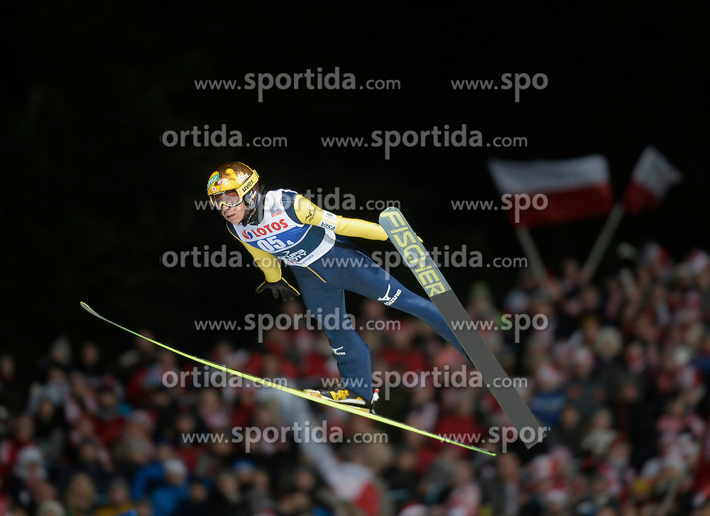 17.01.2015, Wielka Krokiew, Zakopane, POL, FIS Weltcup Ski Sprung, Zakopane, Herren, Teamspringen, im Bild Noriaki Kasai // during mens Large Hill Team competition of FIS Ski Jumping world cup at the Wielka Krokiew in Zakopane, Poland on 2015/01/17. EXPA Pictures &copy; 2015, PhotoCredit: EXPA/ Newspix/ Irek Dorozanski<br /> <br /> *****ATTENTION - for AUT, SLO, CRO, SRB, BIH, MAZ, TUR, SUI, SWE only*****