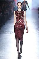 Julia Nobis walks down runway for F2012 Jason Wu's collection in Mercedes Benz fashion week in New York on Feb 10, 2012 NYC
