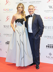 The Global Gift Gala Red Carpet, Wednesday 17th May 2017<br /> <br /> Nick Ede and Vogue Williams arrive on the red carpet<br /> <br /> The Global Gift Gala is a unique international initiative from the Global Gift Foundation, a charity founded by Maria Bravo that is dedicated to philanthropic events worldwide; to help raise funds and make a difference towards children and women across the globe.<br /> <br /> Charities benefiting from the 2017 Edinburgh Global Gift Gala include the  Eva Longoria Foundation, which aims to improve education and provide entrepreneurial opportunities for young women;  Place2Be which provides emotional and therapeutic services in primary and secondary schools, building children's resilience through talking, creative work and play; and the Global Gift Foundation with the opening of their first 'CASA GLOBAL GIFT', providing medical treatments and therapy for children affected by rare disease.<br /> <br /> (c) Aimee Todd | Edinburgh Elite media