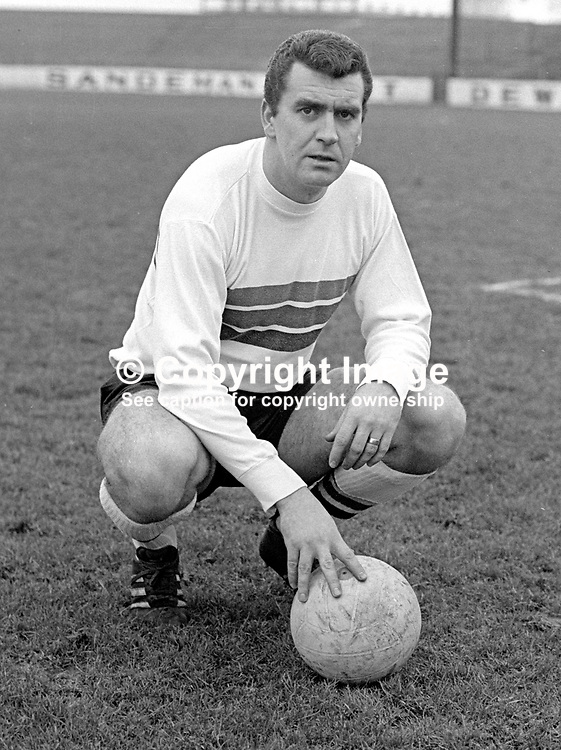 John Colrain, footballer, manager, Glentoran FC, N Ireland, Scottish, Under 23 International. January 1968. 196801000084a<br /> <br /> Copyright Image from Victor Patterson, 54 Dorchester Park, Belfast, UK, BT9 6RJ<br /> <br /> Tel: +44 28 9066 1296<br /> Mob: +44 7802 353836<br /> Voicemail +44 20 8816 7153<br /> Email: victorpatterson@me.com<br /> Email: victorpatterson@gmail.com<br /> <br /> IMPORTANT: My Terms and Conditions of Business are at www.victorpatterson.com