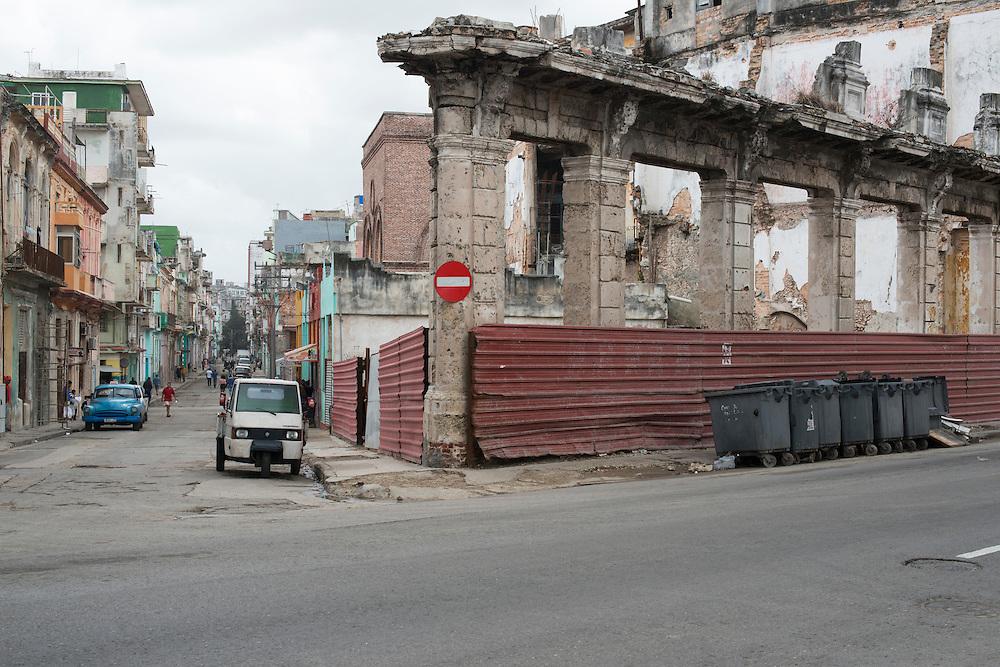 Havana Centro, vestiges d'une ancienne demeure coloniale.