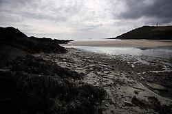 UK ENGLAND FOWEY 20FEB15 - General view of the beach at Gribbin Head near Fowey, Cornwall, England, where famous English novelist Daphne Du Maurier lived. Fowey, a small fishing and harbour village was the living place of famous English writer Daphne Du Maurier and many of her novels are based here.<br /> <br /> jre/Photo by Jiri Rezac<br /> <br /> © Jiri Rezac 2015