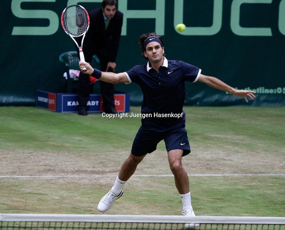 Gerry Weber Open 2008, Halle (Westf.), Tennis, ATP Turnier, Roger Federer (SUI)...Foto: Juergen Hasenkopf..