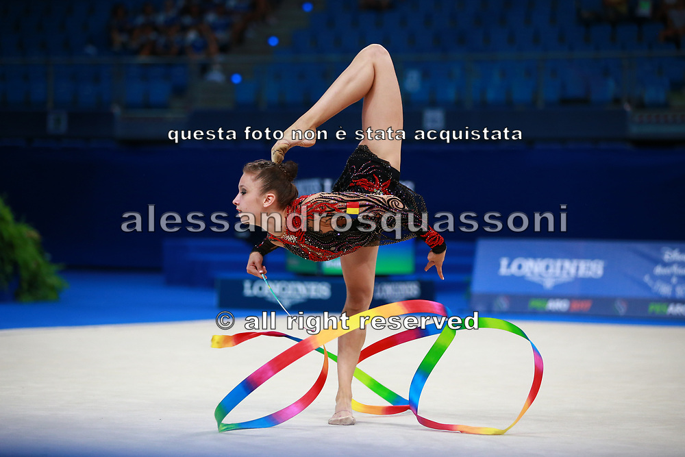 Andreea Verdes is a Bulgarian gymnast born in Iasi in 2000. Her dream is to compete in the upcoming Olympics in Tokyo. Andreea finished her first participation at a World Championship of Pesaro in 33rd place.