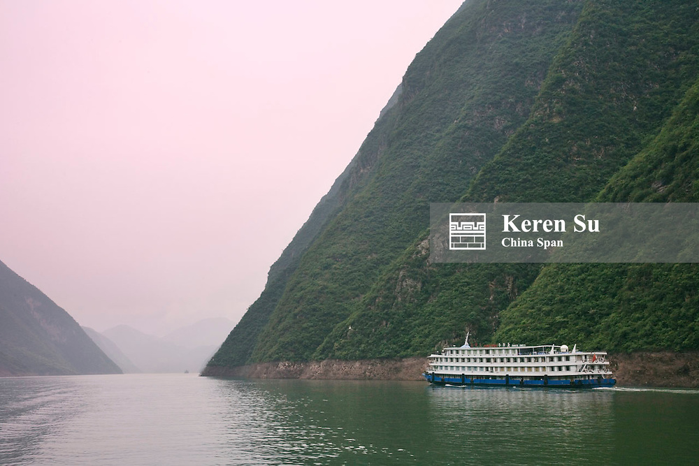 Landscape of Wu Gorge, Three Gorges, Yangtze River, Sichuan, China