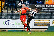 Wycombe Wanderers defender Adam El-Abd (6) battles with Notts County forward Shola Ameobi (9)  during the EFL Sky Bet League 2 match between Notts County and Wycombe Wanderers at Meadow Lane, Nottingham, England on 30 March 2018. Picture by Simon Davies.