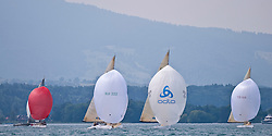 Thun June 2009 5.5 Class Swiss Championship, 24 boats from 6 nations (AUT, BAH; GER; NED; NOR; SUI) were competing, The favourites Jürg Menzi, 11 times Swiss Champion, and Flavio Marazzi, both from TYC, got beaten by Christoph Burger on Odlo.