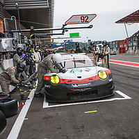 #92, Porsche Motorsport, Porsche 911 RSR (2017), driven by Michael Christensen, Kevin Estre at WEC 6 Hours of Spa-Francorchamps 2017, Spa-Francorchamps race circuit, on 06.05.2017