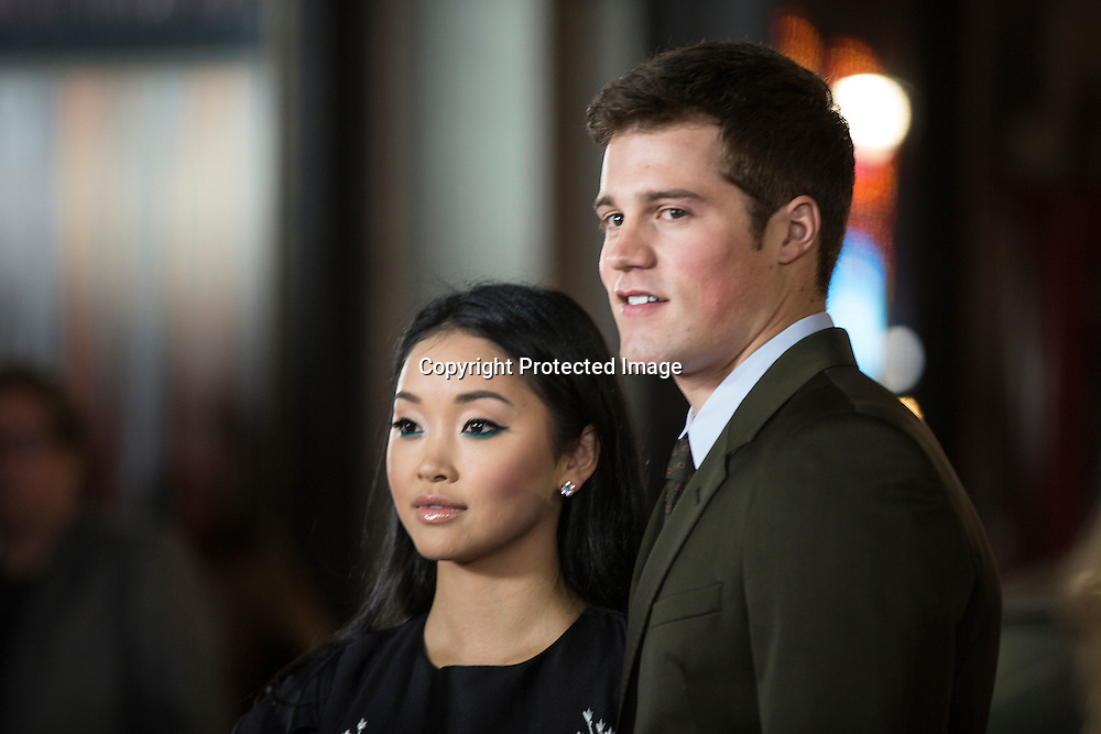 Actress Ana Condor with actor Jake Picking attend the AFI 2016 Fest presented by AUDI closing night screening of Patriots Day at TCL Chinese Theatre, Hollywood, CA on November 17th