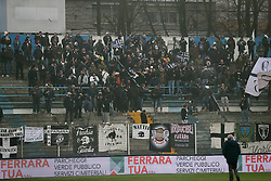 """Foto Filippo Rubin<br /> 10/12/2016 Ferrara (Italia)<br /> Sport Calcio<br /> Spal vs Spezia - Campionato di calcio Serie B ConTe.it 2016/2017 - Stadio """"Paolo Mazza""""<br /> Nella foto: I TIFOSI DEL LA SPEZIA<br /> <br /> Photo Filippo Rubin<br /> December 10, 2016 Ferrara (Italy)<br /> Sport Soccer<br /> Spal vs Spezia - Italian Football Championship League B ConTe.it 2016/2017 - """"Paolo Mazza"""" Stadium <br /> In the pic: I TIFOSI DEL LA SPEZIA"""