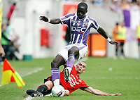 Fotball<br /> Frankrike<br /> Foto: Dppi/Digitalsport<br /> NORWAY ONLY<br /> <br /> FOOTBALL - FRENCH CHAMPIONSHIP 2008/2009 - L1 - TOULOUSE FC v STADE RENNAIS - 30/08/2008 - MOUSSA SISSOKO (TFC) / JEROME LEROY (REN)<br /> <br /> Rennes