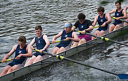 © Licensed to London News Pictures.13/06/15<br /> Durham, England<br /> <br /> A men's crew make the final push towards the finish line during the 182nd Durham Regatta rowing event held on the River Wear. The origins of the regatta date back  to commemorations marking victory at the Battle of Waterloo in 1815. This is the second oldest event of this type in the country and attracts over 2000 competitors from across the country.<br /> <br /> Photo credit : Ian Forsyth/LNP