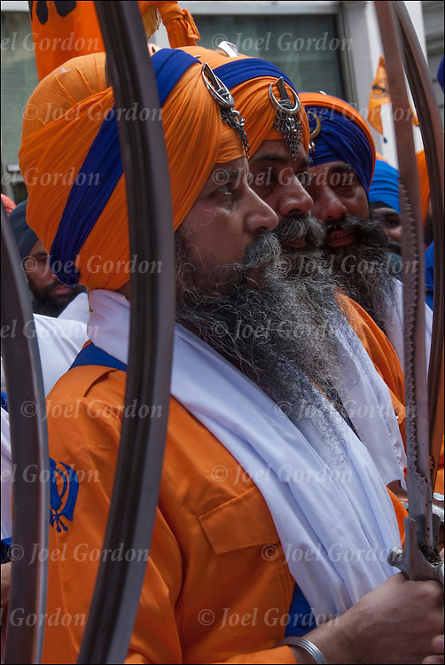 Sword-bearing Panj Piare 'Beloved Ones'<br />