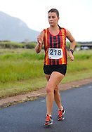 CAPE TOWN, SOUTH AFRICA - OCTOBER 10: Anel Oosthuizen in the women's 20km during the South African Race Walking Championship at Youngsfield Military Base on October 10, 2015 in Cape Town, South Africa. (Photo by Roger Sedres/ImageSA)