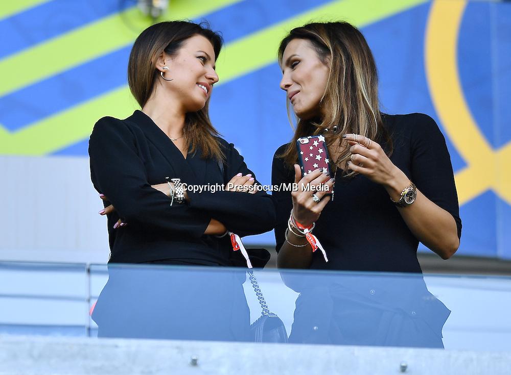 2016.06.25<br /> Football UEFA Euro 2016 <br /> Round of 16 game between Switzerland and Poland<br /> Anna Lewandowska Sara Boruc<br /> Credit: Lukasz Laskowski / PressFocus